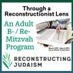 Through a Reconstructionist Lens: An Adult B- / Re- Mitzvah Program image