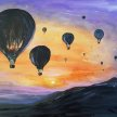 Sunset and Balloons image