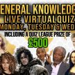 Wednesday General Knowledge Quiz (General Knowledge Every Monday, Tuesday and Wednesday at 8pm) image