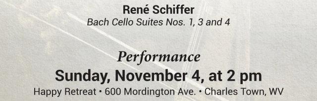 René Schiffer, Bach Cello Suites Nos. 1, 3 and 4