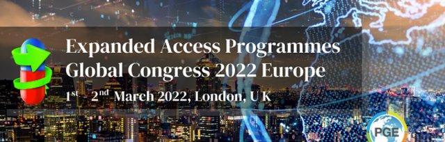Expanded Access Programmes Global Congress 2022 Europe - London, UK