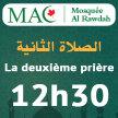 SALAT 02 -  FR - 12h30 - Mosquée Alrawdah (MAC) image