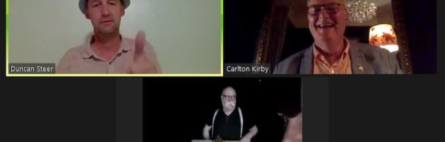 Zoomcast Recorded Stream: Carlton Kirby Behind Closed Doors - stream the recording of our first event
