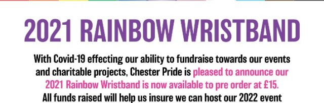 Rainbow Wristband 2021