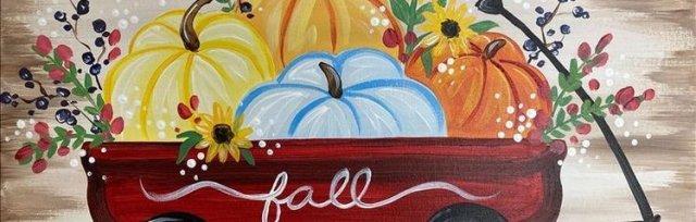 Autumn Red Wagon