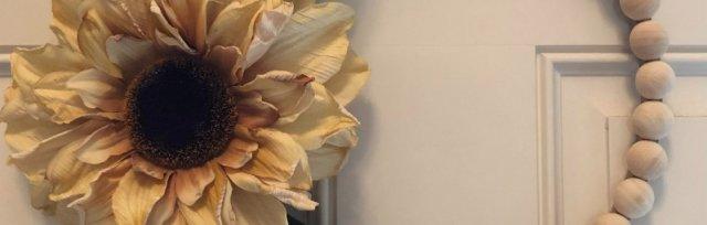 Boho Fall Beaded Floral Wreath $42