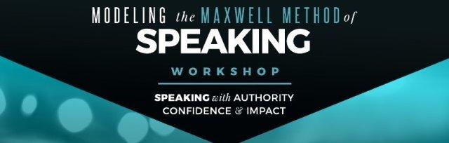 Modeling the Maxwell Method of Speaking Workshop
