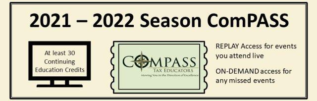 2021-2022 Webinar Season ComPASS