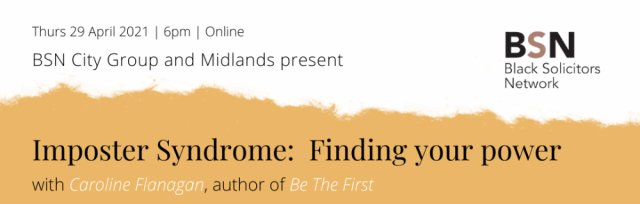 Imposter Syndrome: Finding your power with Caroline Flanagan   29 April 6pm