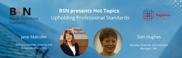 BSN Hot Topics:  Upholding professional standards, Tue 20 Apr 2021 @ 6pm