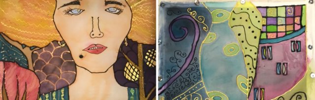 Silk Painting inspired by Klimt with Sarah Moorcroft [Ref#5302]
