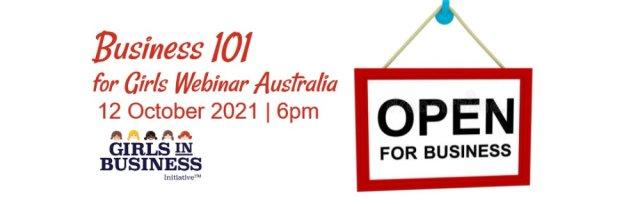 Business 101 for Girls Webinar Australia