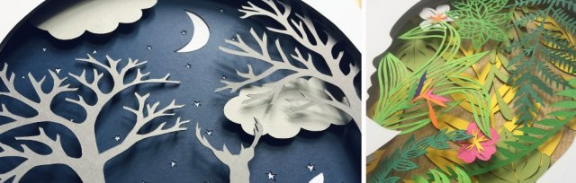 Layered Colour Papercuts with Adriana Roberts [Ref#478 #5111]