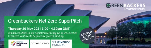 Greenbackers NetZero SuperPitch for Investment @ COP26 - Feedback