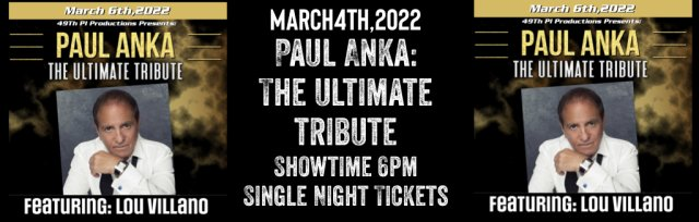 Paul Anka: The Ultimate Tribute