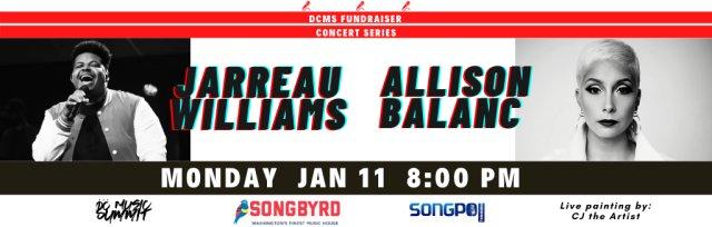 DC Music Summit Concert Series Fundraiser  — Jarreau Williams  and Allison Balanc