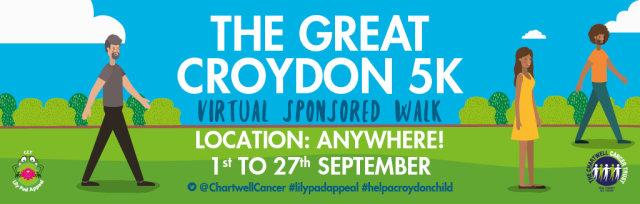 The Great Croydon 5K Virtual Sponsored Walk