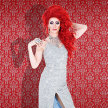 Kitty Tray Presents: Divina De Campo Red Wig & A Silver Dress Show image