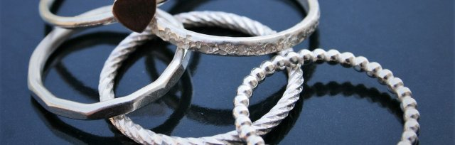 Sterling Silver Stacking Rings  with Wendy Murphy - £85