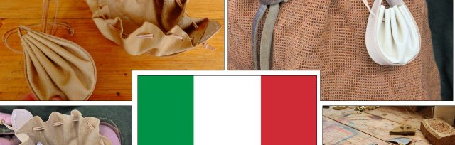 Italy - Venetian Style Leather Drawstring Pouch with Ruth Pullan - £74