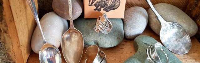 Sterling Silver Spoon Rings with Christian Glover - £74