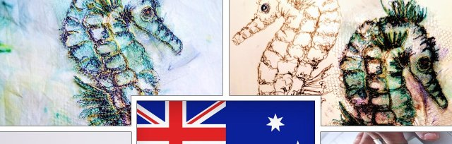 Australia - Free Motion Machine Embroidered Seahorses  with Ruth Parkinson-Johns - £74