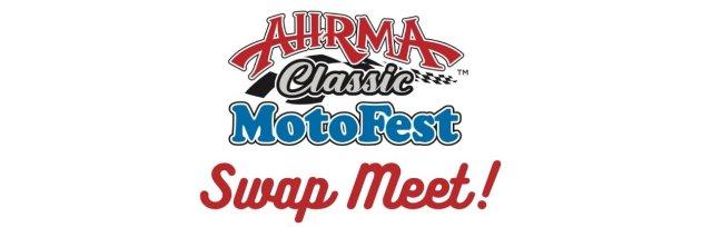 The AHRMA MotoFest in the Heartland Vintage Motorcycle Swap Meet!