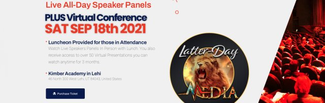 $35 Hope for Heaven - Latter-Day Media - Speakers Panels Live + Luncheon