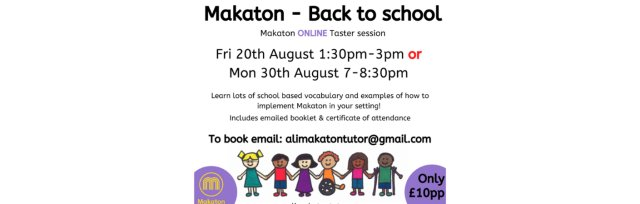 Makaton Back to school vocabulary session