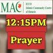 1- First Prayer starts at 12:15 PM image