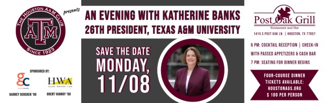 An Evening with President Katherine Banks
