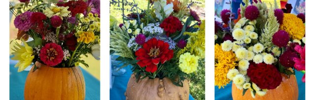 Pumpkin Flower Arrangement Workshop