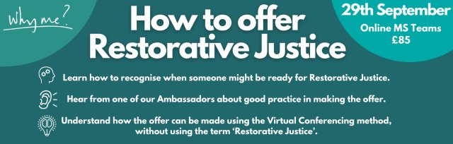 How to offer Restorative Justice