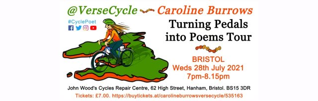 Caroline Burrows / VerseCycle: Turning Pedals into Poems Tour: BRISTOL
