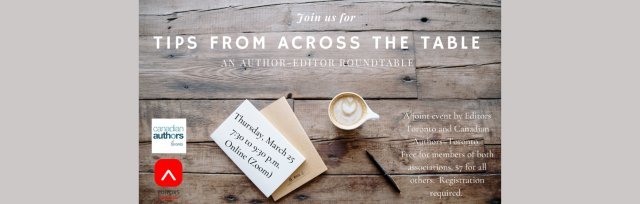 Tips From Across the Table: An Author-Editor Roundtable