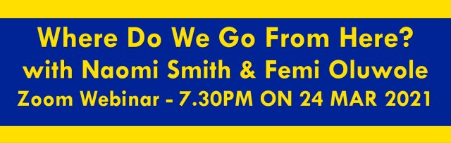Grassroots for Europe webinar with Naomi Smith and Femi Oluwole