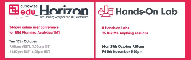Horizon and Hands-on Lab, User Conference for IBM Planning Analytics/TM1