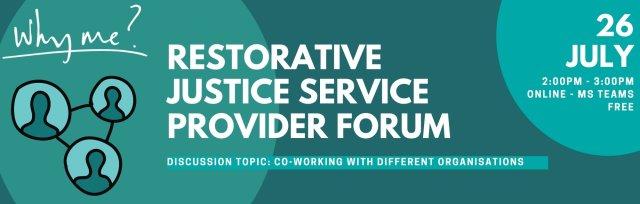Restorative Justice Service Provider Forum