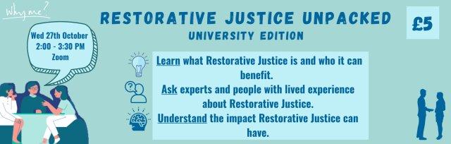 Restorative Justice Unpacked: University Edition