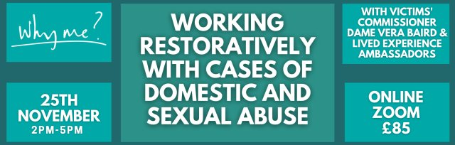 Working restoratively with cases of domestic and sexual abuse