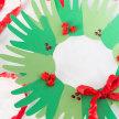 Handprint Christmas Wreath image