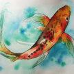 Koi in Watercolour image