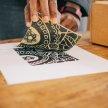 Lino print your own A4 prints (with BYOB) image