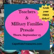 Cape Kids' Treasures Teachers & Military Presale Passes- Sept. 23, 2021 image