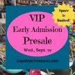 Cape Kids' Treasures Wed. VIP Presale Tickets- Sept. 22 2021 image