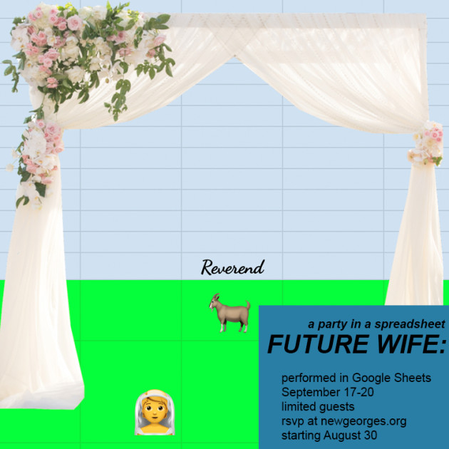FUTURE WIFE: party in a spreadsheet