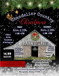 Chandelier Country Christmas image