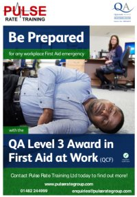 Level 3 Award in First Aid at Work image