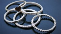 Sterling Silver Stacking Rings  with Wendy Murphy - £85 image