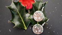 Silver Clay Christmas Pudding Earrings with Wizz Stearne - £40 image